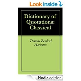 Dictionary of Quotations: Classical