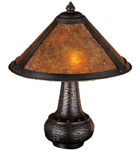 Meyda - 22619 - 14 Inch H Van Erp Amber Mica Accent Lamp Table Lamps