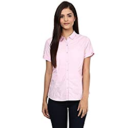 Annabelle by pantaloons Women's Casual Shirt (205000005551277_Pink_L)