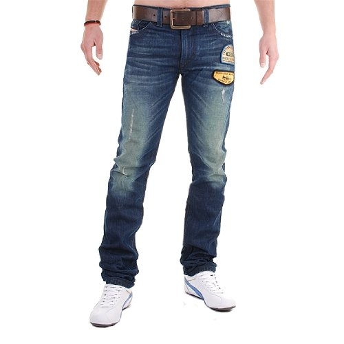 Brand New Diesel Thavar 882R Mens Jeans, 0882R, Dirty New Age, Slim Fit Tapered Leg (33 x 32)