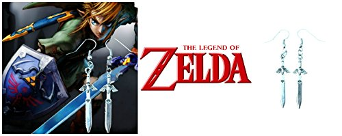 The Legend of Zelda Sword Game/Movie/TV Theme Charm Dangle Earrings W/Gift Box