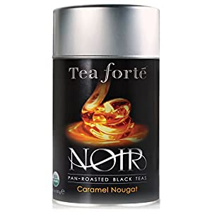 Tea Forte Noir CARAMEL NOUGAT Organic Loose Leaf Black Tea, 3.5 Ounce Tea Tin