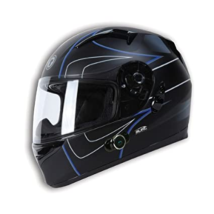 TORC-T12-Blade-Full-Face-Helmet-with-Flat-Drop-Point-Blue-Graphic-(Flat-Black-X-Large)