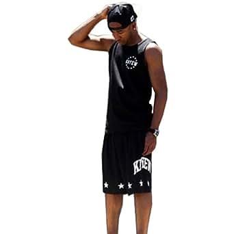 Zero Unisex Hipster Hip Hop Advisory Printing Tank Sleevless T Shirts (M ( US S ), Y0508-black)