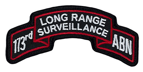 173rd Airborne Long Range Surveillance Scroll Patch Class A Colors - Sew-on Patch - 3-5/8