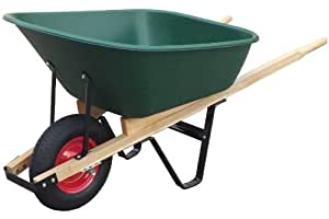 United General WH89695 Poly Tray Wheelbarrow, 6 Cubic-Feet (Discontinued by Manufacturer)
