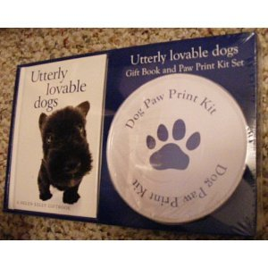 Utterly Lovable Dogs Paw Print Kit and Book Set - 1