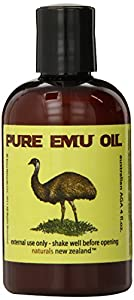 Emu Oil Pure Premium Golden - Powerful Skin and Hair Moisturizer, Excellent for Stretch Marks, Scars, Nails, Muscle & Joint Pain, and More! 4 fl.oz.