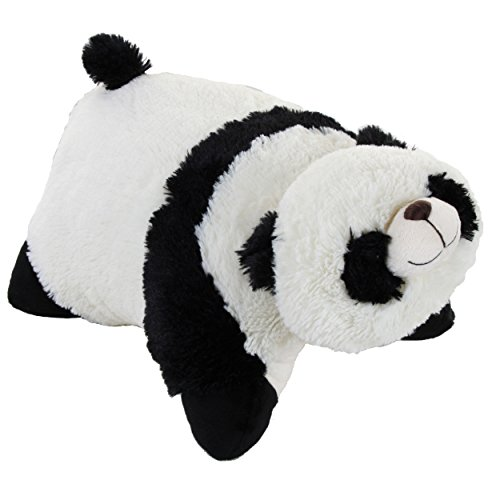 "Genuine My Pillow Pet Comfy Panda - Large 16"" (Black and White) - 41J4kW730DL - Genuine My Pillow Pet Comfy Panda – Large 16″ (Black and White)"