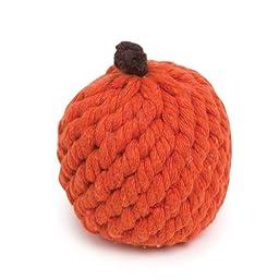 Grriggles 3-1/4-Inch Rope Fruit Crew Dog Toy, Orange