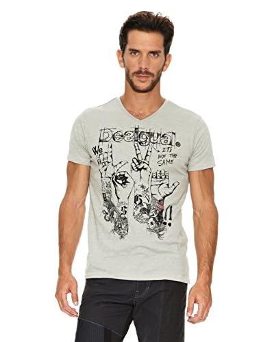 Desigual Camiseta Love Gris