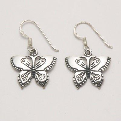 Flat Butterfly Earrings