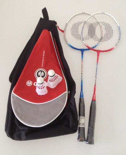 Oliver2er Set Badmintonschläger Federbälle