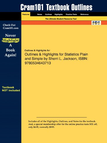 Studyguide for Statistics Plain and Simple by Sherri L. Jackson, ISBN 9780534643713
