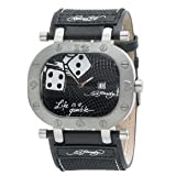 Ed Hardy Men's Jumper Watch – Black