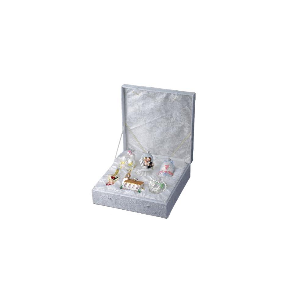 Kurt Adler C4577 Glass Wedding Ornament, 6 Piece Set