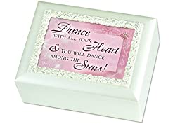 Children\'s Cottage Garden Ivory Dance with All Your Heart w/ Spinning Ballerina Music Musical Jewelry Box Plays Swan Lake