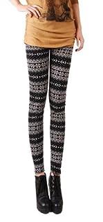 Fashion Womens Xmas Snowflake Reindeer Knitted Warm tight Leggings