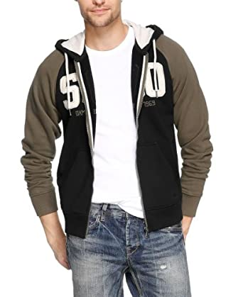 s.Oliver Herren Sweatshirt-Jacke 13.309.43.5519, Gr. 60/62 (3XL), Schwarz (9999)