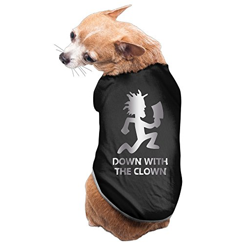 [Black Down With The Clown Platinum Style Pet Dog T-shirt Coat] (Parks And Rec Costume)