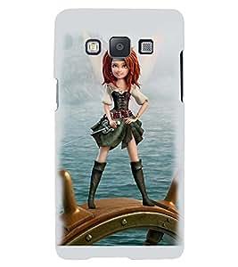 Printvisa Sailor Girl Back Case Cover for Samsung Galaxy E7::Samsung Galaxy E7 E700F