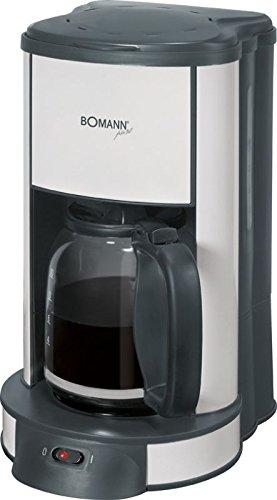 Bomann KA 1961 CB 1000 Watt Kaffeemaschine inkl. Glaskanne Kaffeeautomat - weiss