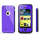 Pioneer Tech® Newest Waterproof Shockproof Dirt Snow Proof Durable Case Cover For Apple iPhone 5C (New Purple)
