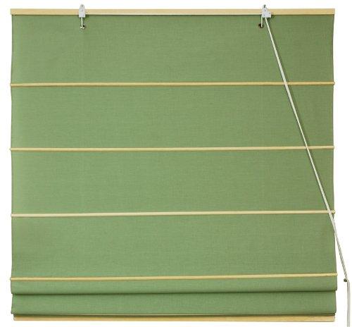 "Cotton Roman Window Shades - Light Green - 36"""