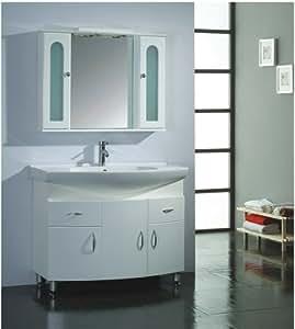 LUXExclusive Single Sink Bathroom Vanity LUX BC 9100 39 X
