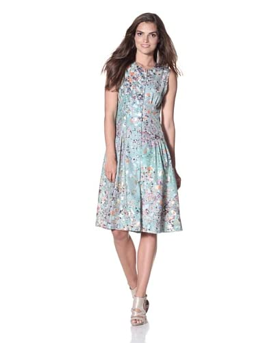 Cynthia Rowley Women's Silk Confetti Shirt Dress  – Mint