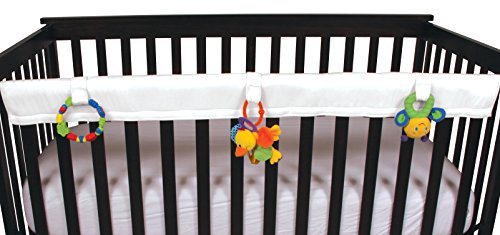 "Leachco Easy Teether - Crib Rail Cover for cribs with THINNER railing (circumference of 7.5"" or less) - White"
