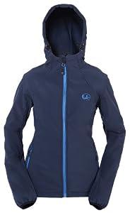 Ultrasport Damen Softshell Jacke mit Kapuze Estelle, navy/bleu, M, 20027