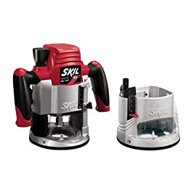 Factory-Reconditioned Skil 1825-RT 2-1/4-Horsepower 2-Inch Router Combo Kit with Site Light