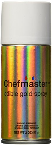 Chefmaster Edible Spray, One 2-Ounce Can. Kosher Certified - Gold (Food Coloring Spray compare prices)