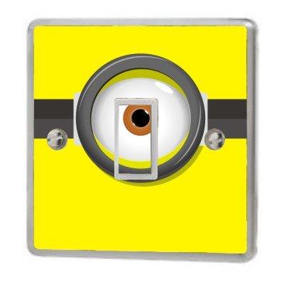 Despicable Me Minion Eye Switch Sticker Vinyl / Skin cover sw44