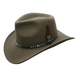 Star Rider Waterproof Wool Hat (Small, Loden)