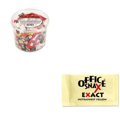 kitofx00013ofx00062-value-kit-office-snax-nutrasweet-yellow-sweetener-ofx00062-and-office-snax-soft-