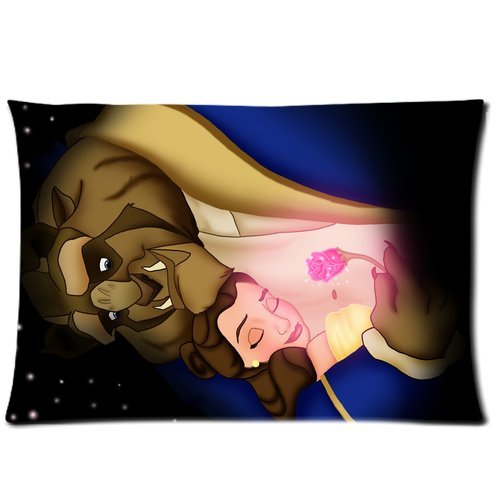 Custom Pretty Girl And The Cool Beast Rectangular Pillow Case 20×30 Inches Creative Personalized Pillowcase Bedding Pillow Slips