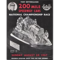1967 Tony Bettenhausen 200 Mile Speedway Cars National Championship Race Souvenir Program