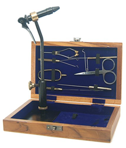 Standard Fly Tying Tool Kit With Vise, Tools, and Pedestal Base -- Plus DVD instruction video (Fly Tying Pedestal Base compare prices)