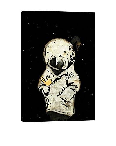 Banksy Space Girl and Bird II Canvas Print