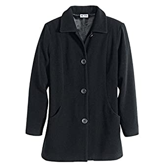 Amazon.com: Blair Women's Wool-Blend Winter Coat - L Black