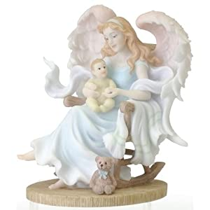 "Mothers Embrace Angel - Gretchen - Stone Resin - 6.5"" High"