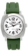 TKO ORLOGI Unisex TK508-WGR Milano Plastic Case and Green Rubber Strap Watch