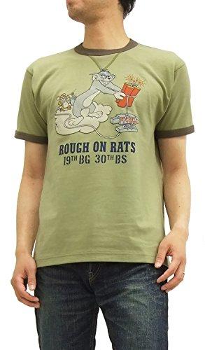 (トイズマッコイ) TOYS McCOY Tシャツ TMC1548 トム&ジェリー メンズ 半袖tee #160ライトオリーブ