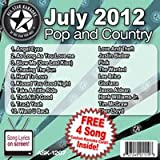 All Star Karaoke July 2012 Pop and Country Hits (ASK-1207)