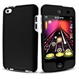 Black Rubberized Hard Case for Apple iPod Touch 4 / iTouch 4th Generation