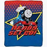 Northwest Fleece Throw Blanket, Thomas the Train, Ready Set Go, 50 X 60 Inches