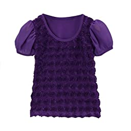 Purple Rosette Top Size 5