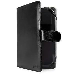 BoxWave Google Nexus 7 Nero Leather Elite Case - 100% Genuine Black Leather Book Cover
